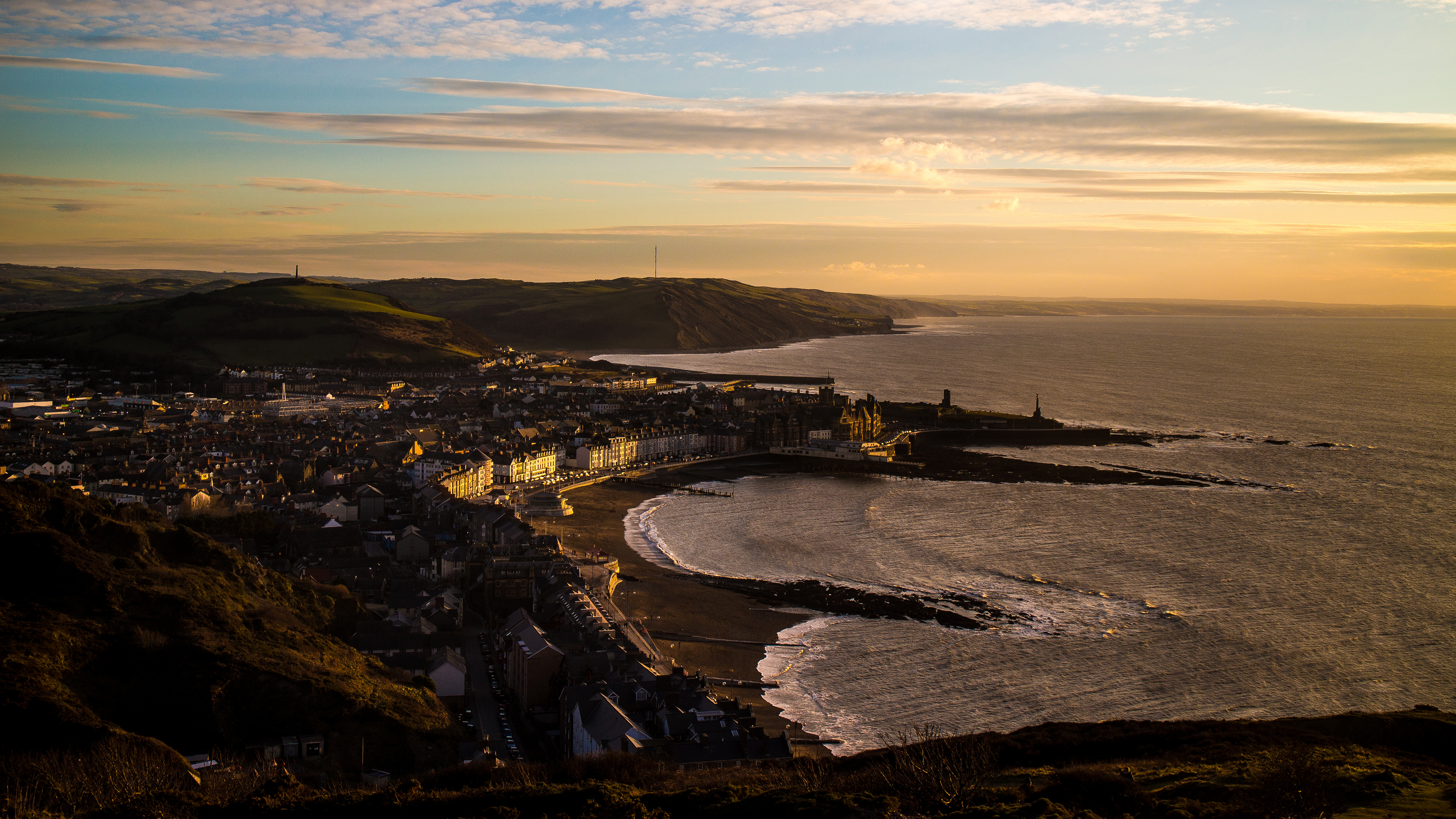 View on the ocean Aberystwyth