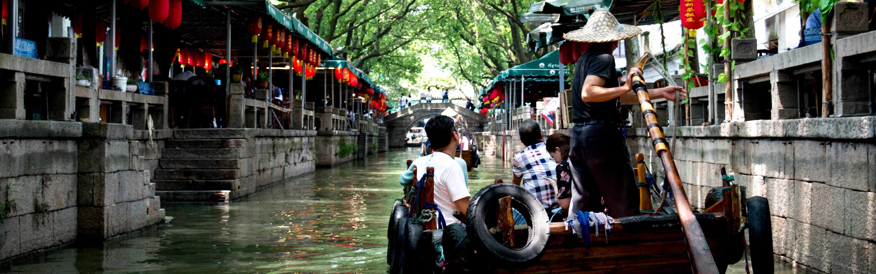 """A 1000-year-old water town known as Tongli. It is from an area just outside Shanghai that is often referred to as the """"Venice of the East"""""""