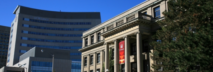 Tabaret Hall and Desmarais Hall: buildings that exemplify our rich history and award-winning innovation.
